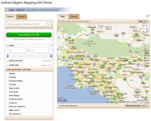dsSearchAgent Mapping IDX Search