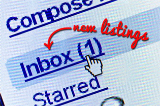 inbox with new listings