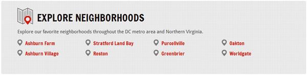 neighborhoods section