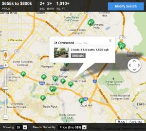 IDX map search widget