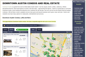 Custom page for Downtown Austin with a framed custom dsSearchAgent link