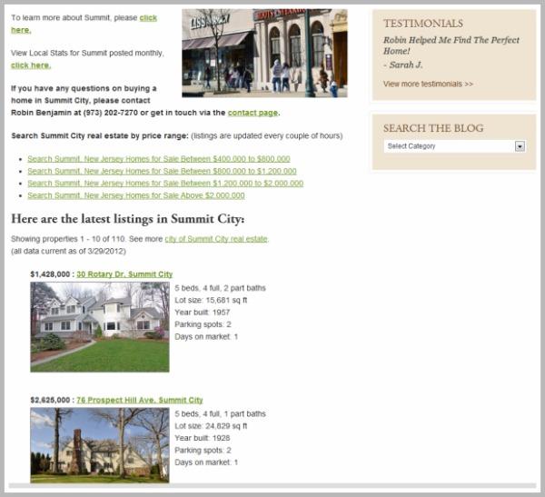 Summit City Landing Page