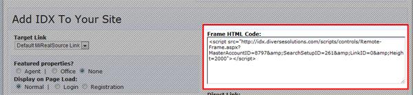 frame HTML code