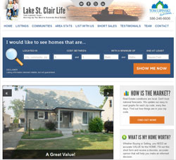 LakeStClairLife.com screenshot