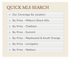 mls search menus widget