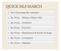 mls search menus widget